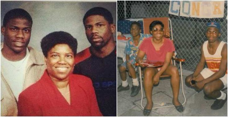 Kevin Hart's mother Nancy Hart and brother Robert