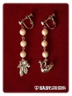 Lolibrary   Baby, the Stars Shine Bright - Jewelry - Pas de Deux in the Blue Moon Earrings