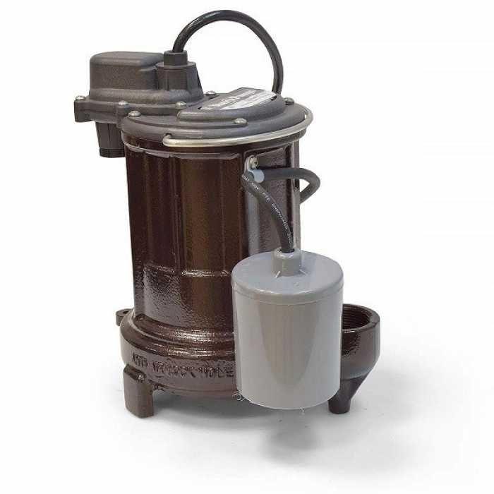 Liberty Pumps 253-2, 1/3 HP Auto. Sump / Effluent Pump, Piggyback Switch, 115V, 25' cord