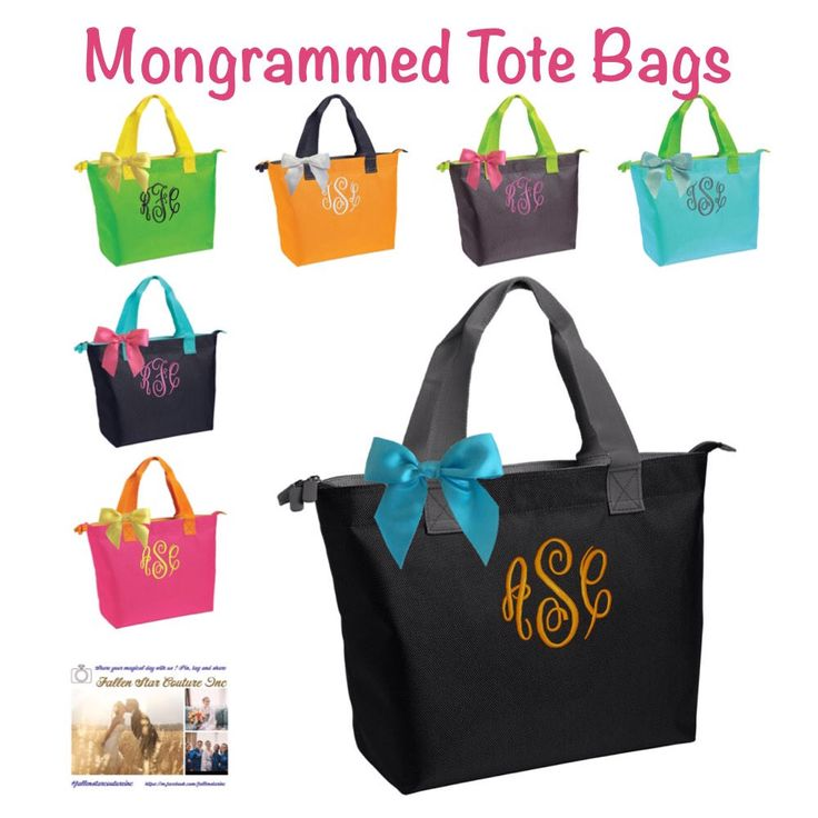 NEW !!! Monogrammed tote bags , personalzed tote bags , nurse tote bag , teacher tote bag , bridal party gifts by FallenStarCoutureInc on Etsy https://www.etsy.com/listing/505793510/new-monogrammed-tote-bags-personalzed