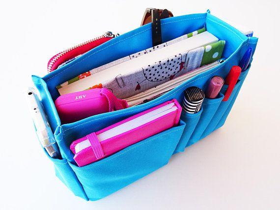 Blue Purse Organizer Bag Insert Polyester Bag Organizer