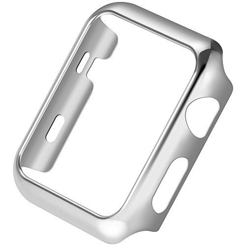 Apple Watch Series 2 Case,Mangix Super Thin PC Plated Plating Protective Bumper Case for for Apple Watch Series 2 2016 Released (Silver,38mm):   Apple Watch Series 2 Case,Mangix Super Thin PC Plated Plating Protective Bumper Case for for Apple Watch Series 2 2016 Released
