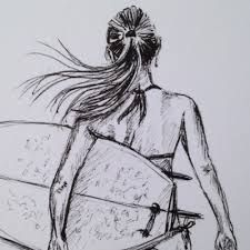 Image result for surfer drawing