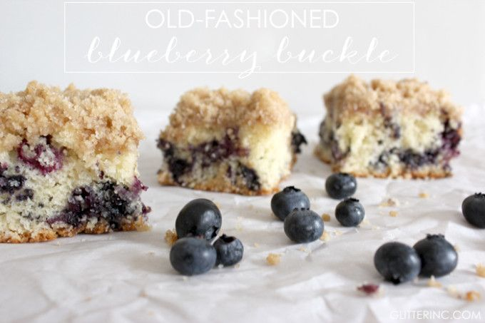Old-Fashioned Blueberry Buckle Cake {Recipe}