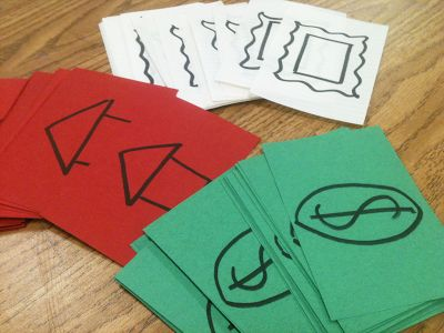 Fun and easy way to critique in the elementary school art classroom! Check out this blog, it even includes a slideshow you can show the kids to explain.  Awesome resource.