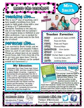 """This is an EDITABLE file. Introduce yourself to your students and parents with this very cute """"Meet the Teacher"""" letter! Fonts used in the letter can be downloaded for free from www.dafont.com. Fonts used are cheri, minya nouvelle and sketch block. If you do not wish to download and use those fonts, you may use your own fonts.** This is for single classroom use only. **"""