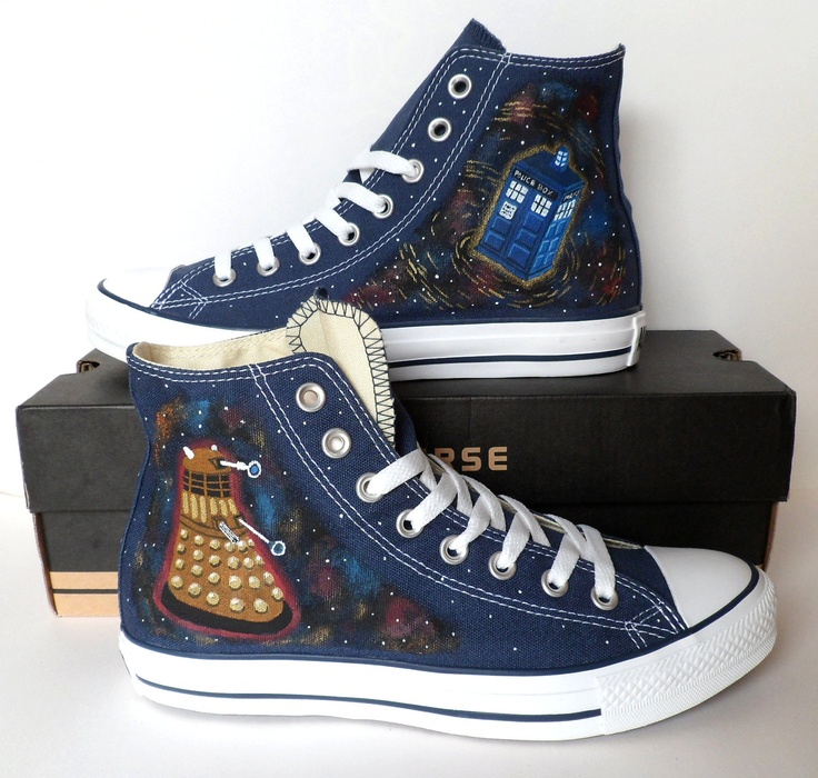 Doctor Who Converse Dalek and Tardis by emmivisser on Etsy