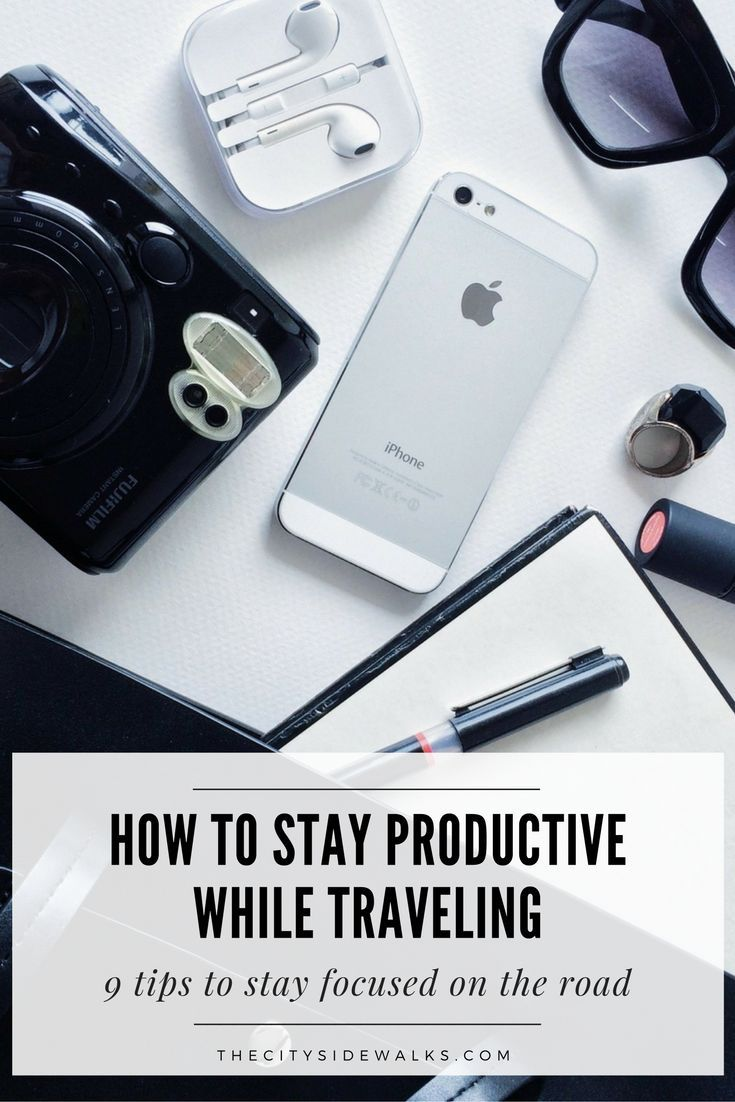 Travel tips: If you have a job where you combine work + travel, you know that one of the most difficult things about traveling is having the skill to stay productive while you're on the road. Check out this guide with some of my best tips and tricks on how to focus and stay productive while traveling!