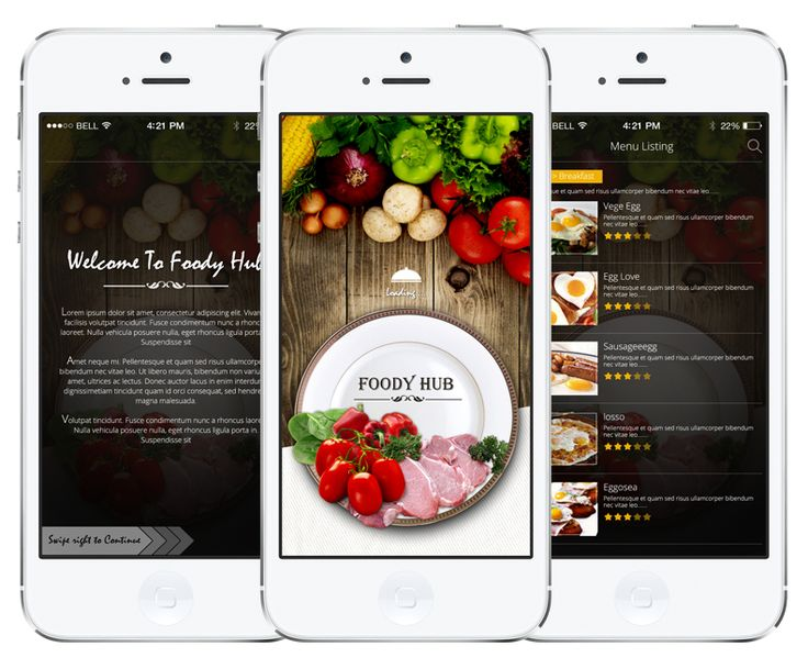 killer UI and UX to extend your foody-habit. App under production