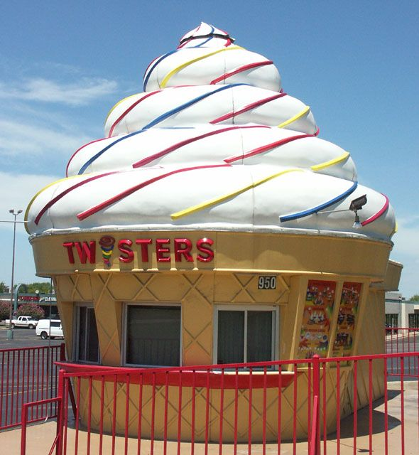 ,The Awesome Giant Ice Cream Cone Filmed In The Opening