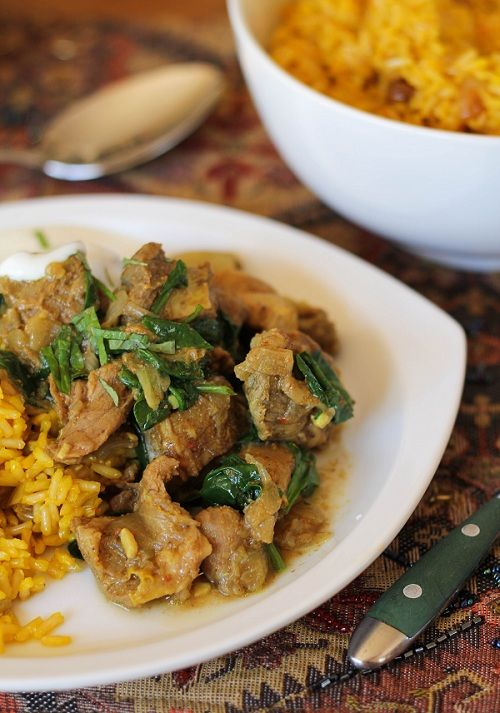 Super-easy Crock Pot Lamb Curry, loaded with fragrant spices. Saute the onion in broth (instead of oil) and leave out the yogurt for a fantastic Phase 2 meal.
