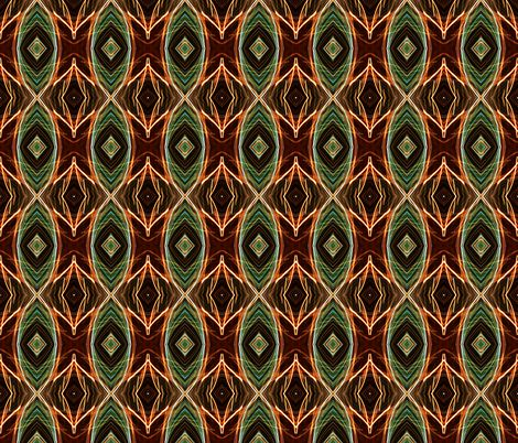 EYE DAMASK OGEE OGIVE PEACOCK JEWELS BROWN fabric by paysmage on Spoonflower - custom fabric
