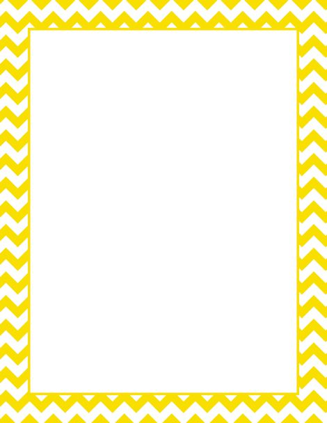 Printable yellow chevron border. Free GIF, JPG, PDF, and ...