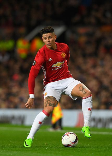 United player Marcos Rojo in action during the UEFA Europa League Round of 16 second leg match between Manchester United and FK Rostov at Old Trafford on March 16, 2017 in Manchester, United Kingdom. - Manchester United v FK Rostov - UEFA Europa League Round of 16: Second Leg