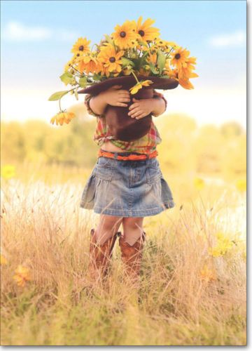 Girl-Holding-Hat-Of-Flowers-Funny-Thank-You-Card-Greeting-Card-by-Avanti-Press