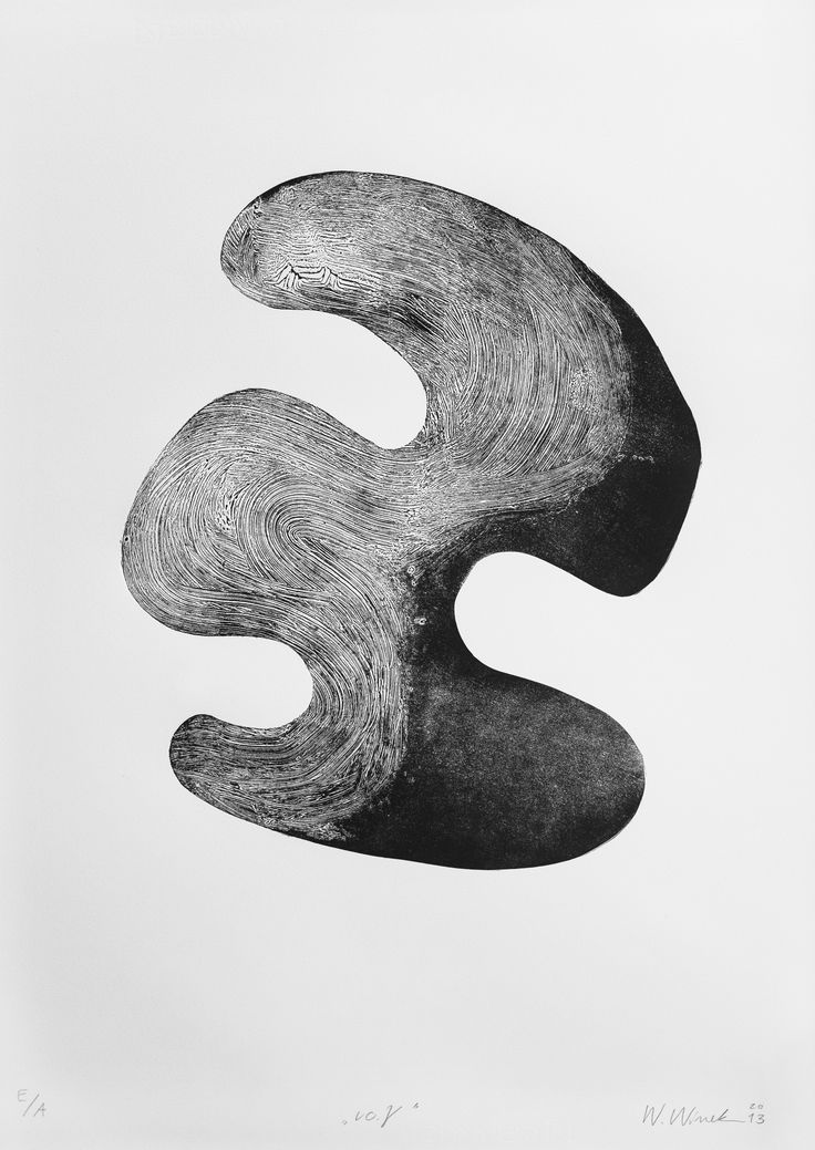 "Witold Winek ""uo-γ"", 70X50, relief print, 2014"