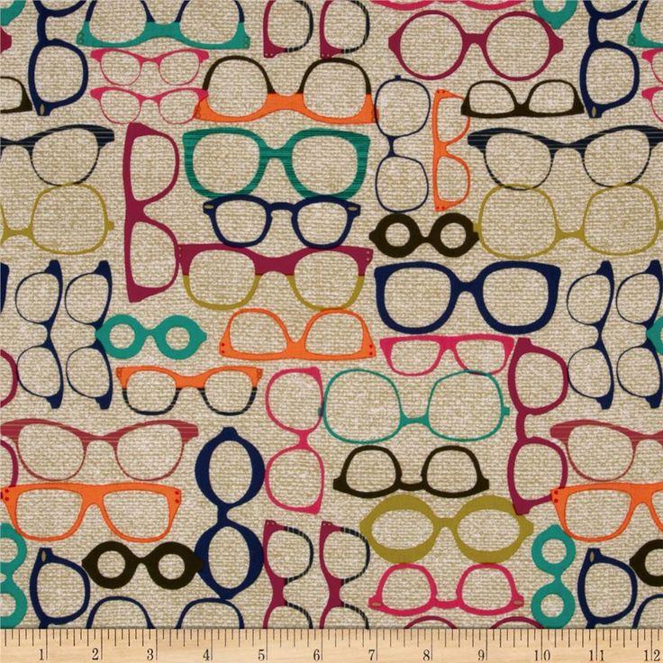 Michael Miller Urbanista 20/20 Glasses Jewel $9.20 per yard Compare At $10.99 per Yard