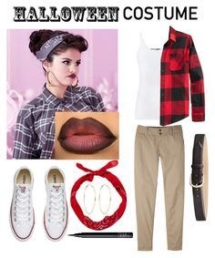 """Last minute chola costume!"" by jbeach1124 on Polyvore featuring Vince, American Rag Cie, Converse, Mountain Khakis, River Island and NARS Cosmetics"