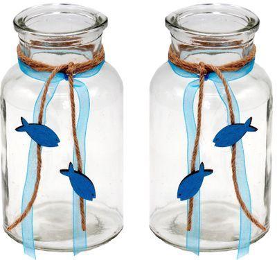 Tischdeko Kommunion Konfirmation Petrol Blau Grau Weiß Fisch SET 20 Personen ISAAK