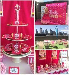 Kara's Party Ideas Mattel Barbie Pearl themed birthday party via Kara's Party Ideas | Cake, decor, cupcakes, games and more! KarasPartyIdeas.com #barbieparty #barbie #barbiedoll #girlypartyideas #partdecor (2) | Kara's Party Ideas