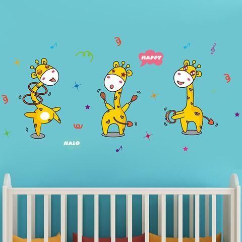 Fun Giraffe wall sticker for your babies nursery