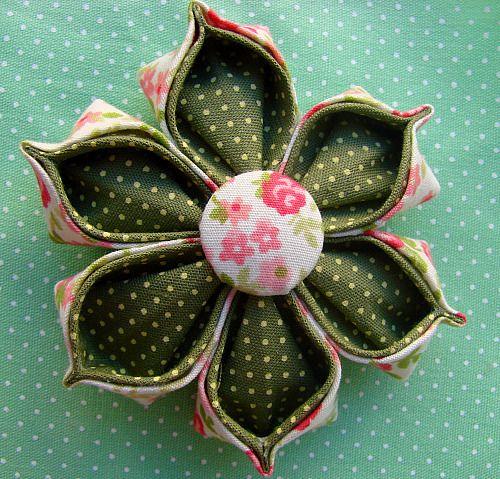 Flor de tecido   Flickr - Photo Sharing!