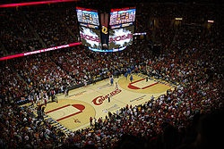 Quicken Loans Arena. Home of the Cleveland Cavaliers.  Cleveland, Ohio.
