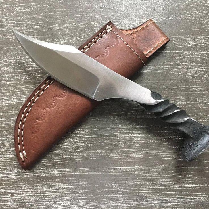 Railroad spike knife #craftsman #craft #handmade #knife #knives #knifemaking #blacksmith #cutlery #railroad