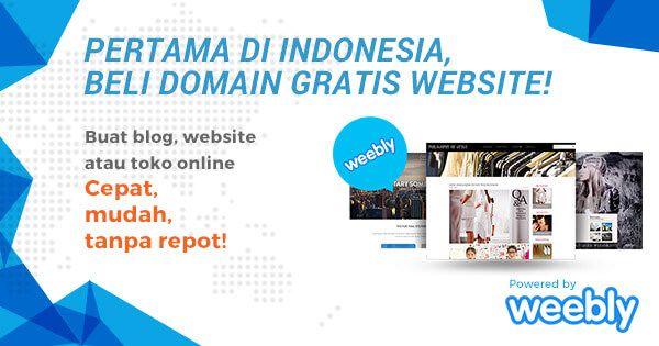 Woww!!.. Beli domain Gratis website!  Hanya di Niagahoster : https://www.niagahoster.co.id/membuat-blog-weebly #GratisWebsite #GratisDomain #WeeblyGratis