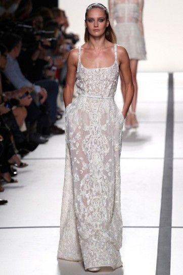 Elie Saab, long dress bianco