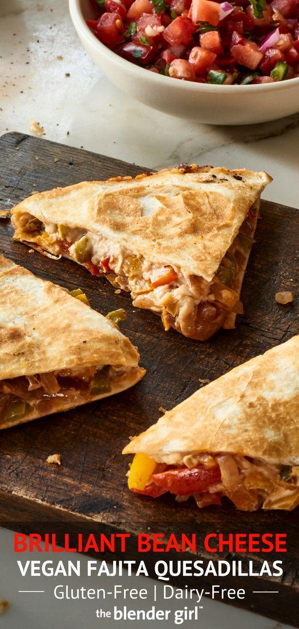 Vegan Quesadillas With Bean Cheese Gluten Free The Blender Girl Recipe Food Delicious Vegan Recipes Recipes
