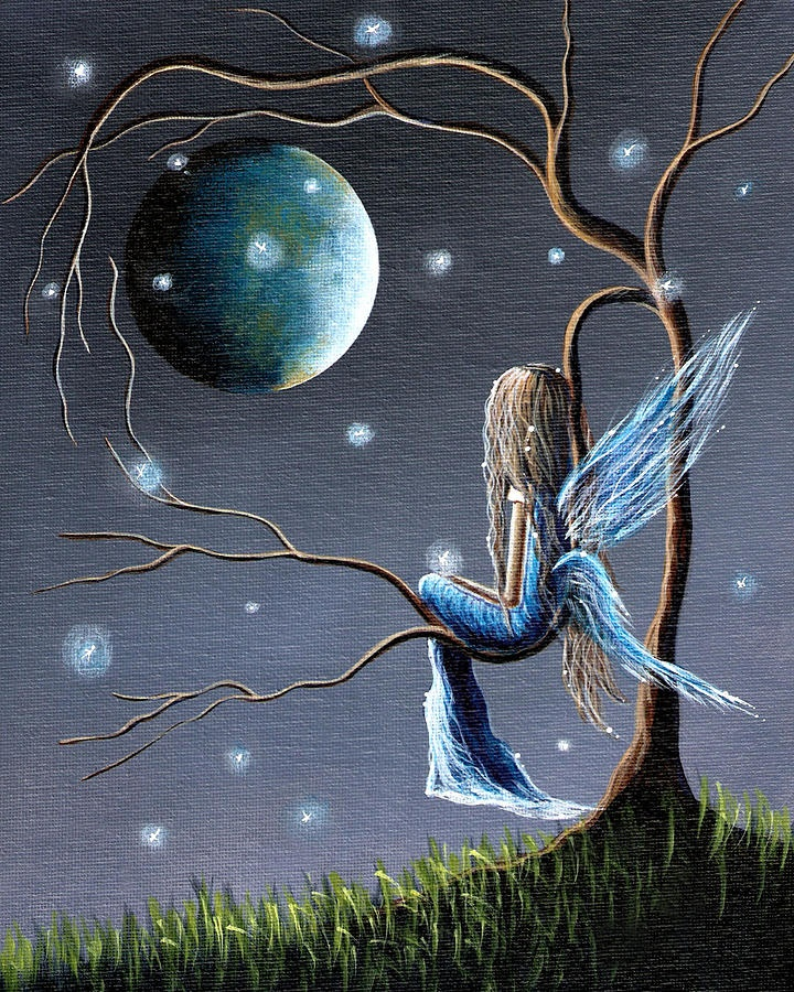 Beautiful World Of Fairies By Shawna Erback Painting -
