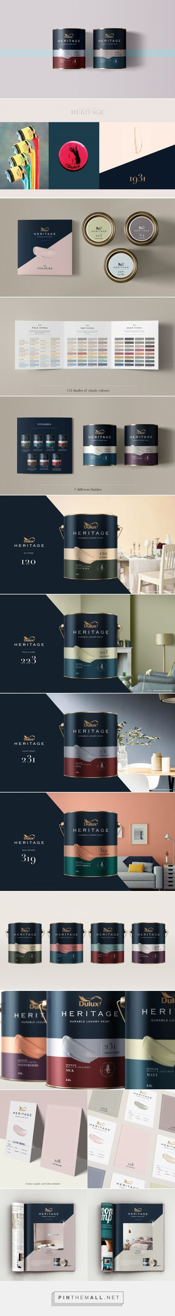 Dulux Heritage paint packaging design by Thnadech Kummontol - http://www.packagingoftheworld.com/2017/02/dulux-heritage-concept.html