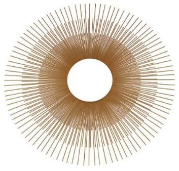 Oversized Gold Sunburst Mirror - eclectic - mirrors - Target