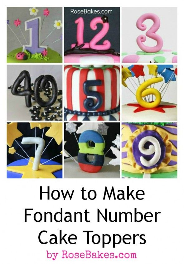 How to Make Fondant Number Cake Toppers