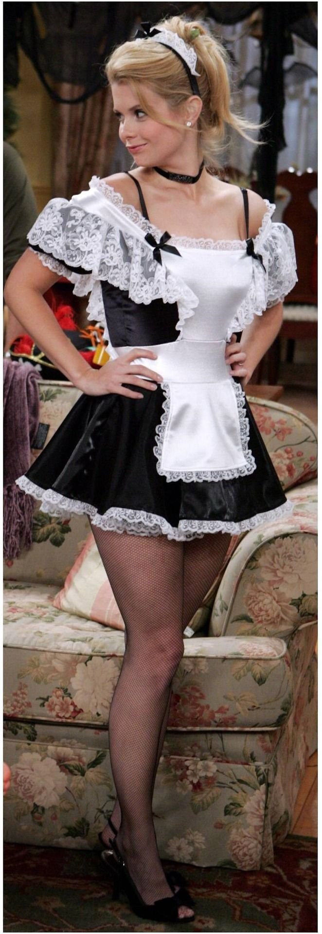 Yes, I know this is a Halloween costume honey, but we're always talking about hiring a maid. You don't seem to mind my looking like this and I'm not about to complain. I can? Promise? I'll be the best maid ever!