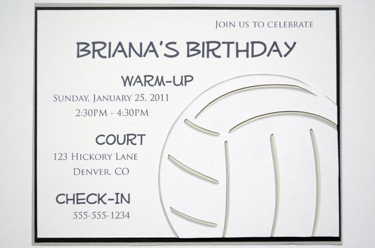 Volleyball - Invitation. $20.00, via Etsy.