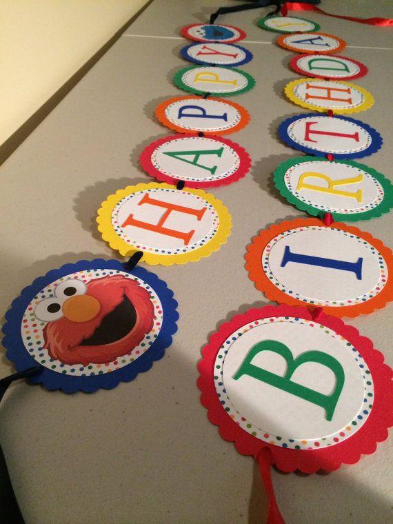 Sesame Street inspired Birthday Banner/sesame by LittleHoneyPrints