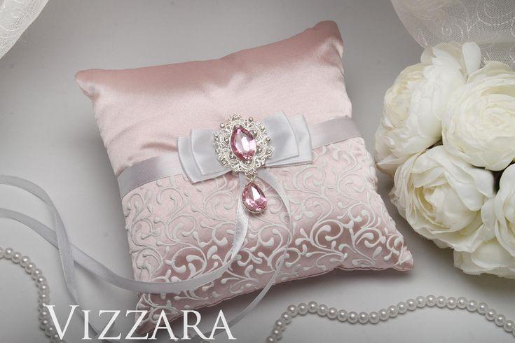 Ring Bearer Pillow Pink weddings Starfish ring bearer pillow Pink and white wedding Personalized ring bearer pillow Light pink wedding
