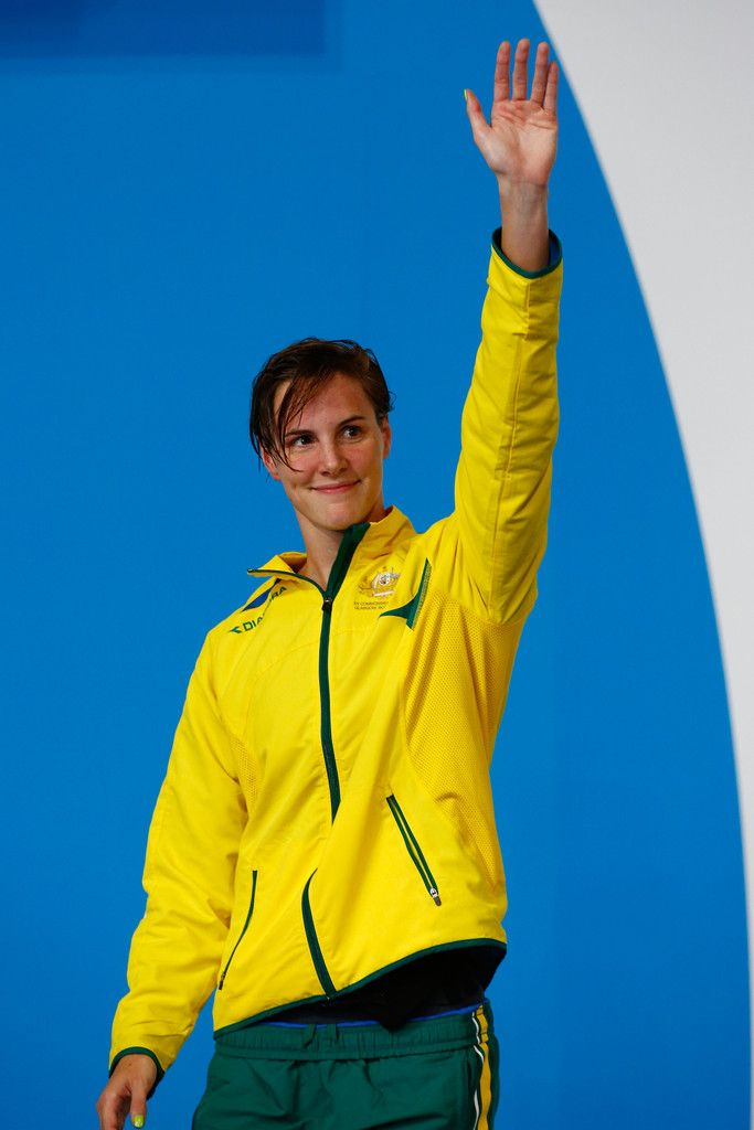 Silver medallist Bronte Campbell of Australia