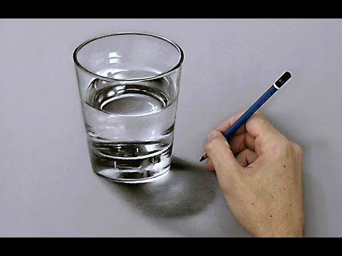 Drawing Time Lapse: Coca Cola Green Glass - hyperrealistic art - YouTube