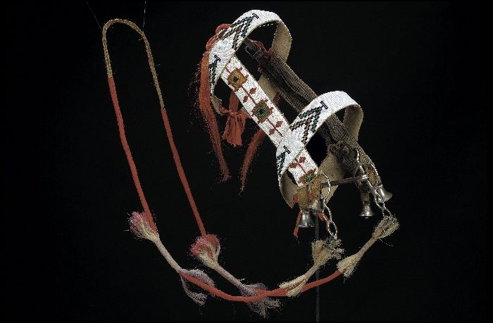 Horse Bridle - Blackfoot - circa 1890 Interesting looking bit-- like a straight curb with no tongue release