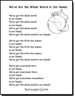 We've Got the Whole World in Our Hands! Earth Day song!