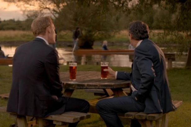 Inspector Lewis - Loved this last scene - James Hathaway and Robbie Lewis having a pint