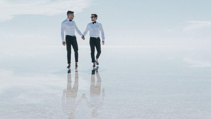 Alan & Weston en el Salar de Uyuni