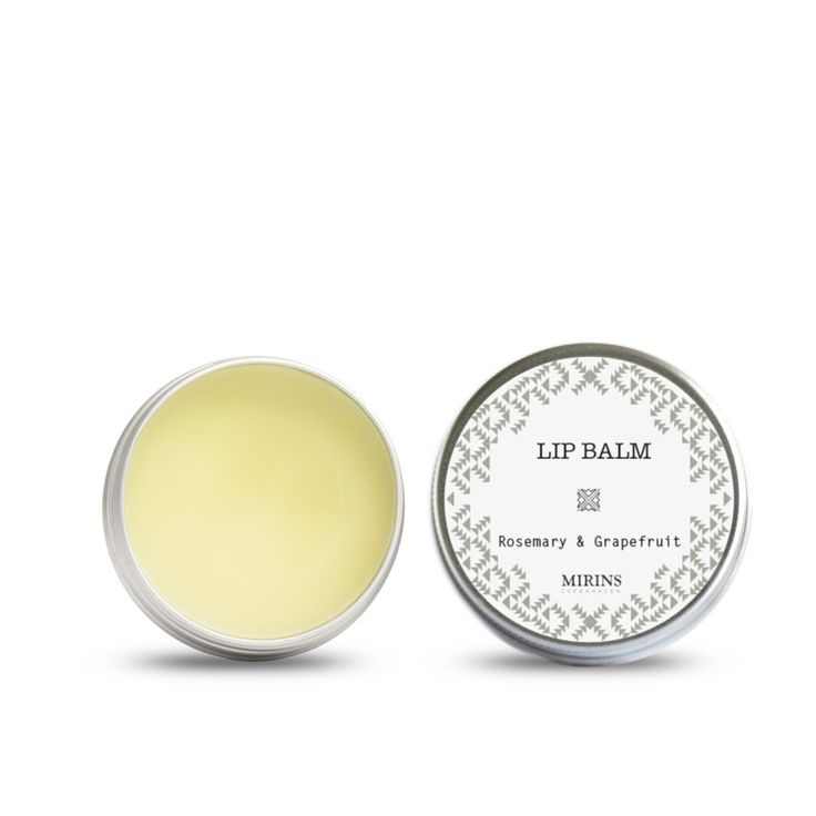 Lip Balm Rosemary and Grapefruit Rich and soothing balm excellent for weather-beaten or chapped lips. Ingredients Almond Oil (Prunus dulcis), Shea Butter (Butyrospermum parkii), Bees Wax (Cera alba); Essential Oils: Grapefruit (Citrus paradisi), Rosemary (Rosmarinus officinalis), Spearmint (Mentha spicata)