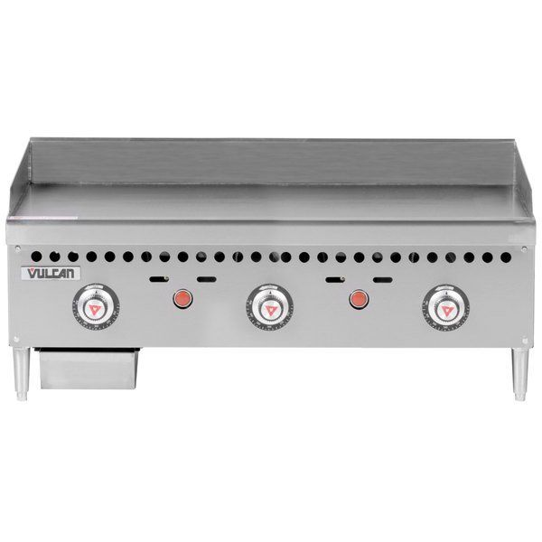 Vulcan Vcrg36 T1 Natural Gas 36 Countertop Griddle With Snap