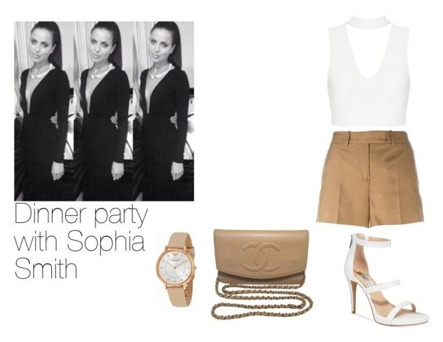 Dinner party with Sophia Smith by lushlife19 on Polyvore featuring polyvore fashion style Maison Margiela INC International Concepts Chanel Emporio Armani clothing