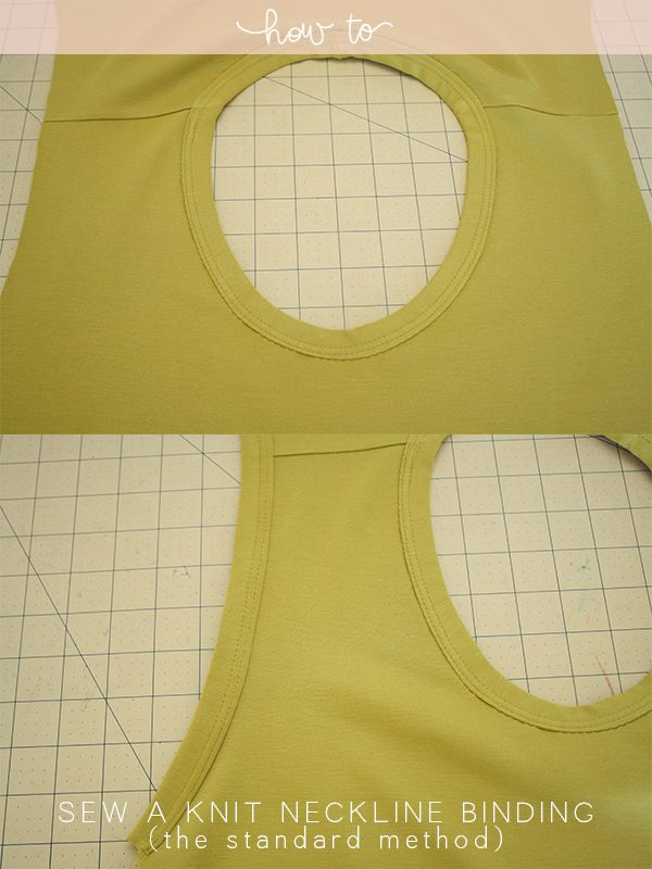 How to sew a knit neckline binding - the standard method || Megan Nielsen #sewing #tutorial #sewingbasics