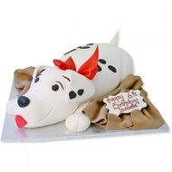 Dalmation Puppy Dog Cake